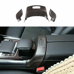 For Benz Glb W247 2020-2022 Wood Grain Console Armrest Box Switch Cover Decor 3x
