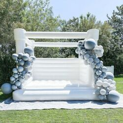 Inflatable Bounce House Pvc 100 Princess Castle Jumper White With Air Blower