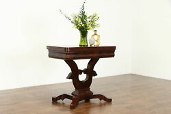 Empire Antique Flame Mahogany Hall Console Flip Top Game Table 34529