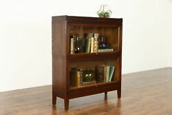 Arts And Crafts Mission Oak Antique 2 Stack Craftsman Lawyer Bookcase Macey 38764