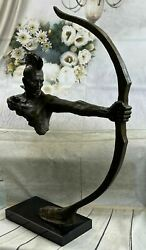 Native American Indian Warrior Chieftain Faux Bronze Statue Sculpture Sale Gift
