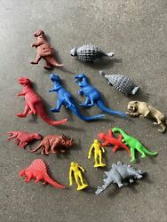 Marx Prehisortic Dinosaurs Playset Lot T- Rex And More