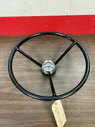 1956 Ford Mainline Sedan Delivery 18 Steering Wheel And Horn Button Original 921
