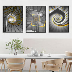 Rotating Stairs Nordic Style Wall Art Canvas Painting Posters Abstract Prints