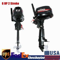 6 Hp 2stroke Outboard Motor Fishing Boat Part Engine W/ Water Cooling Cdi 102cc