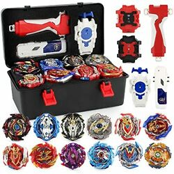 Bey Battling Top Burst Gyro Toy Set 12 Spinning Tops 3 Launchers Combat 007