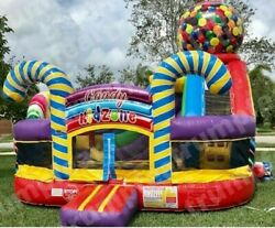 16x16x16 Ft Commercial Inflatable Bounce House Candy Shop With Air Blower Kit