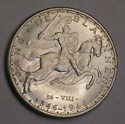 1946 Luxembourg 100 Francs Silver Coin Km-49 Bright Gem 6626