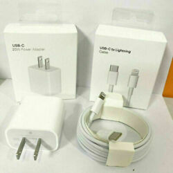 For iPhone 13 Pro Max 12 11 iPad Fast Charger 20W PD Cable Power Adapter Type C