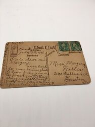 Rare Two George Washington 1 Cent Stamps. Vintage Friendship Post Card.