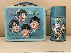 Vintage Aladdin 1965 Beatles Lunch Box And Thermos Lunchbox