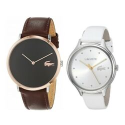 Wristwatch With Ring Storage Box Lacoste Wristwatch Pair Watch Mens Women And039s