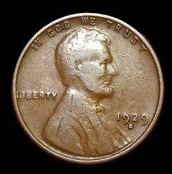 1929 S Lincoln Wheat Cent Penny Better Date Us 1c Coin