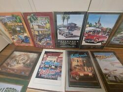 Fallbrook Car Show Posters 23 Posters Original Wrap ,authenticity Tags Vintage