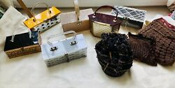 vintage Lucite And Beaded Purse 9pc Lot