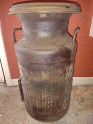 Antique Golden State Foremost 20 Qt Milk Jug/can Farm/ranch Dairy Cow - St Paul