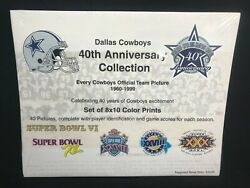 Dallas Cowboys 40th Anniversary Collection Every Team Picture 1960-1999 Sealed