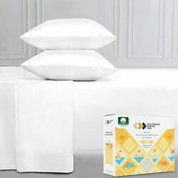 400-thread-count Queen Sheet Set Pure White Sateen Weave