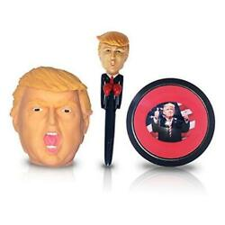 Trump Novelty Gifts Set For Office Desk - Includes Talking Pen, Stress Ball,