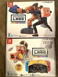 Lot Of 2 Nintendo Switch Games Labo Vr Kit 4 + Robot Kit 2 Interactive Toy-con
