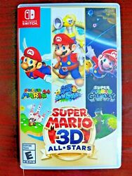 Super Mario 3d All-stars - Nintendo Switch 2020 Video Game Complete Authentic