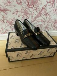 Tiger Head Black/brown Leather Pumps Notation Size 35