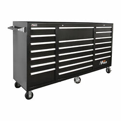Homak H2pro 72in 21 Drawer Rolling Tool Cabinet Blk 71 5/8inwx21 5/8indx46 3/8in