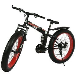 26 4.0 Fat Tire Mens Mountain Bike 21speed Bicycle High Carbon Steel Frame Mtb
