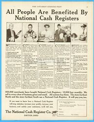 1910 National Cash Register Co Dayton Oh Ncr All People Are Benefited Vintage Ad