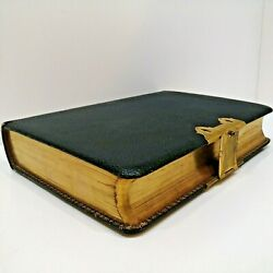 King James Holy Bible, Old + New Testaments, Oxford, Brass Clasps
