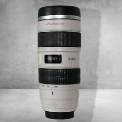 Canon Thermos Coffee Cup Mug Gift Zoom Lens Ef 70-200mm Camera