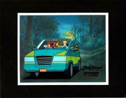Scooby Doo Witch's Ghost 1999 Production Animation Cel Hb Mystery Machine Signed
