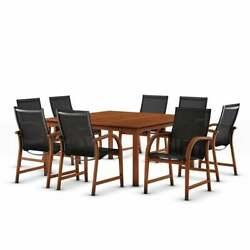 Tottenville 9-piece Square Dining Set By Havenside Home Brown 9 Piece