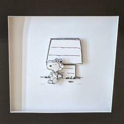 Snoopy Layered Cut-and-cut 3d Decoupage Limited 175 In The World 40x40cm