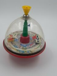 Vintage Spinning Top Toy Cars And Airplanes Plays Music