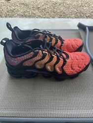 Nike Air Vapormax Plus Grid Sunset Running Shoes 924453-604 Mens Size 12 New