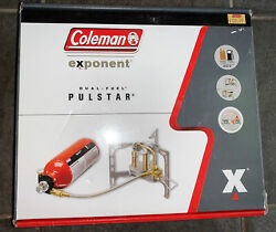 Coleman Exponent Multi fuel Fyrestorm SS Backpacking Stove New Open Box $125.99
