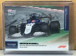 2021 Topps Now Formula 1 28 George Russell Secures Williams First Q3 Run 2018