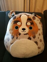 """New Squishmallow 20"""" Raylor Puppy Dog Target Exclusive 2021 Australian Shepard"""