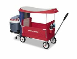 Radio Flyer, 3-in-1 Tailgater Wagon With Canopy, Folding Wagon, Redsa