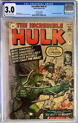 Incredible Hulk 5 Cgc 3.0 1st Appearance Of Tyrannus 1963 Silver Age