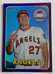 2018 Topps Heritage Mike Trout Purple Thc-275