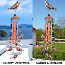 Large Wind Chimes Bells Copper Tube Outdoor Garden Home Hummingbird Butterfly Us