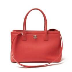 Executive Tote A15206 Calf Leather Pink/sv Metal Fittings Bag Women 's