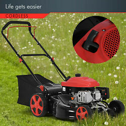 2-in-1 161cc 20-in High-wheeled Fwd Self-propelled Gas Powered Lawn Mower New U