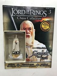 Lord Of The Rings Chess Collection 3 Gandalf Eaglemoss Figure White Bishop + Mag