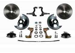 Leed Brakes Fc1003-e105 Front Disc Brake Kit W/2 In. Drop Spindles Gm A/f/x-body