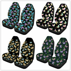 2pcs Car Seat Cover Protector Sets Stretchy Universal Spot Butterfly Pattern