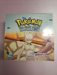 Topps Pokemon The First Movie Card Box Sealed Box 36 Booster Packs Unopened