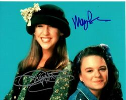 Mayim Bialik And Jenna Von Oy Signed Autographed 8x10 Blossom Photo